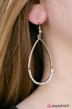 Its Raining GLITTER! - White Earrings