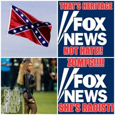 Fox News let's its viewers know the difference between Heritage and Racism.