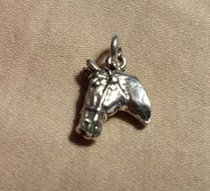 Sterling Silver 3D Hose head charm with jump by celtictreasures