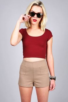 Scoop Out Cropped Top | Basic Tops at Pink Ice #croptops #tops #falltops #cutetops #trendytops #fashion #pinkice