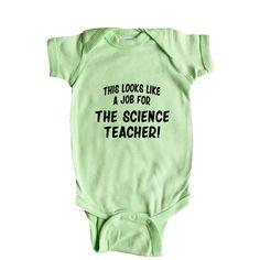 This Looks Like a Job for The Science Teacher Super Hero Comic Book School Homework Education Educator SGAL1 Baby Onesie / Tee