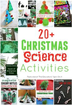20+ Christmas Science Activities for Kids this Holiday Season. A fun hands on way to explore science with your child for Christmas. #STEM  #christmas #kids