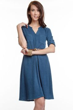 Casual Maggie Dress in Blue