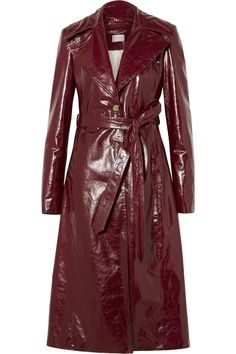 Magda Butrym | Indiana patent textured-leather trench coat | NET-A-PORTER.COM