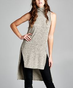 Look what I found on #zulily! Oatmeal Hi-Low Sleeveless Tunic #zulilyfinds