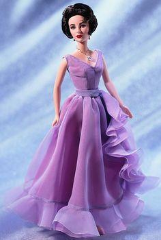 Barbie Collector Elizabeth Taylor White Diamonds Swarovski - R ...
