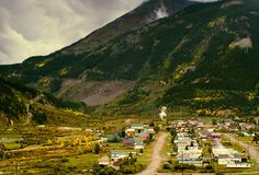 This Mountain Village Photograph was taken on an overcast day in the San Juan Mountains of Colorado- by Lost Kat Photo lostkat.com