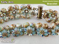 Bracelet Beading Pattern  Sally Ann by Monomint on Etsy, $1.99