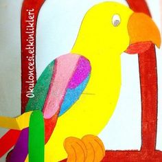 free parrot craft idea for kids (2)