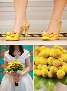 A simple and modern wedding at the Andy Warhol Museum Wedding Yellow White Wedding, Yellow Wedding Shoes, Yellow Wedding Flowers, Yellow Shoes, Wedding Colors, Wedding Styles, Yellow Weddings, Trendy Wedding, Yellow Flowers