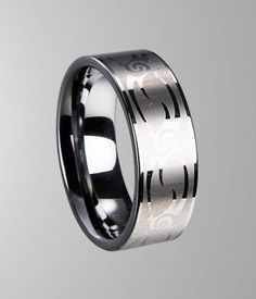 high shine lord of tungsten carbide ring with laser engraving finish. comfortable fit for everyday wear.