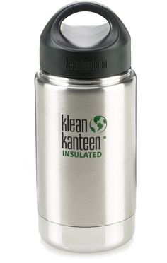 For toasty beverages on the go without worrying about them spilling! Klean Kanteen Insulated Stainless-Steel Bottle
