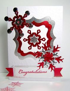 Classic snowflake card - love the vellum
