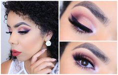 I'M BACK! I did this super fun and colorful look using pinks, reds and purple…