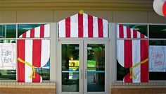 Come on in! Summer fair PTA /PTO decoration idea.