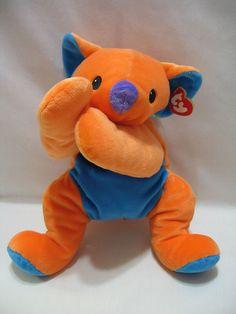 """Ty Pillow Pals Kolala Koala Bear Orange Blue 13"""" Plush MWMT"""