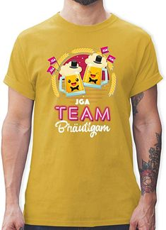 a922e0de385666 JGA Junggesellenabschied - JGA Team Bräutigam Bierkrüge - Herren T-Shirt  Rundhals