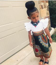 This full dashiki skirt is calf length with A flat front & elastic backing snug fit Waist- Full Length- Waist- Full Length- 5 Cute Kids Fashion, Little Girl Fashion, Toddler Fashion, Toddler Outfits, Kids Outfits, Cute Outfits, Fall Outfits, Cheap Outfits, Trendy Outfits