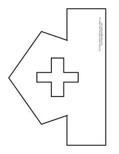 Printable Nurse Hat Template Fun Learning Printables for Kids Toddler Crafts, Crafts For Kids, Community Helpers Crafts, Nurse Crafts, People Who Help Us, Hat Template, Community Workers, Nurse Art, Hat Crafts