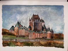 Le Château Frontenac. En aquarelle.  #watercolour #painting #chateaufrontenac