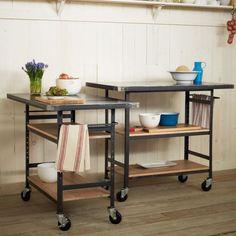 This Design Workshop Metal Top Bar is  a great industrial chic storage solution. #furniture #interiordesign