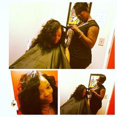 @mskimn82 getting flawless with @kk_stylez and our #indianremy #wagmanhair #teamwags !!