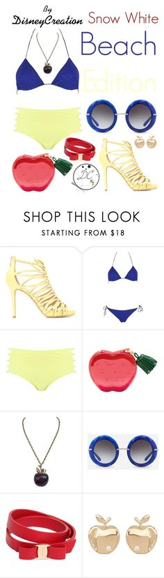"""""""Snow white (Beach Edition) - By DisneyCreation"""" by disneycreation ❤ liked on Polyvore featuring Jimmy Choo, Oséree, Boohoo, Dolce&Gabbana, Salvatore Ferragamo and Bony Levy"""