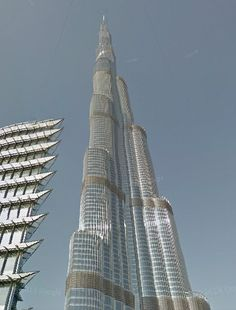 see the Google Street view of World's tallest tower Burj Khalifa and calculate its, other land/plot/estate, field, geographical structure area quick and fast