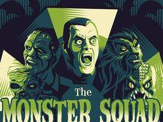 Monster Squad by Ryan Brinkerhoff #Design Popular #Dribbble #shots