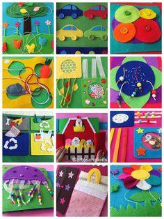 Libros Sensoriales o Quietbooks personalizados, adaptados a la etapa evolutiva de cada niño o niña. Arte Sano KIDS