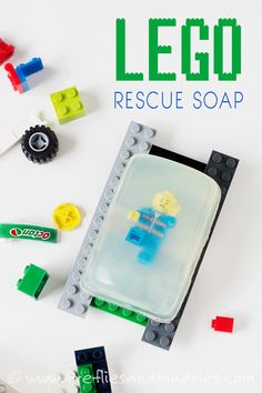 Fun DIY Stocking Stuffer! LEGO Rescue Soap convinces even the most reluctant hand-washers to get scrubbing! | Fireflies and Mud Pies