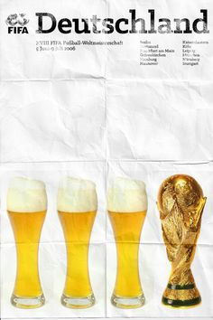 Germany 2006 world cup poster fifa redesigned official poster illustation