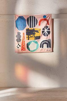 Shop Atelier Bingo Tapestry at Urban Outfitters today. Bingo, Textile Design, Textile Art, Textile Patterns, Joan Mitchell, Scarf Design, Fiber Art, Pattern Design, Illustration Art