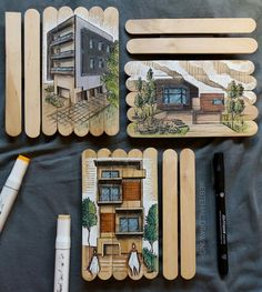 Architecture Design, Interior Architecture Drawing, Architecture Drawing Sketchbooks, Watercolor Architecture, Architect Sketchbook, Building Sketch, Interior Design Sketches, Watercolor Paintings Abstract, A Level Art