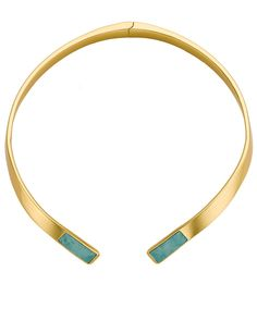 Gold Turquoise Inlay Choker | Pamela Love | Avenue32