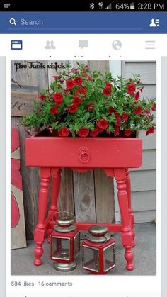 Planter makes from old drawer