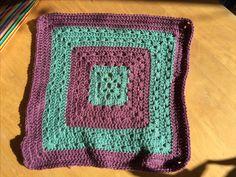 "12"" square in grape and sage Stylecraft DK. Vintage colours for kinship blanket"