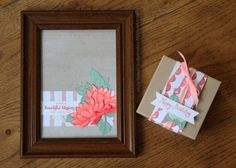 Holly's Hobbies: I combined Rose Wonder and Remarkable You for this framed piece and gift box. Stampin' Up! colors coordinate perfectly with their paper, ribbon and ink!