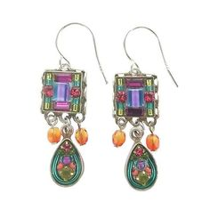 Firefly Mosaic Square With Teardrop Earrings