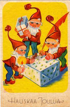 HELENA HELKAMA (ALFTHAN) - sulo heinola - Picasa-verkkoalbumit Winter Christmas, Xmas, Old Fashioned Christmas, Vintage Christmas Cards, Tis The Season, Good Old, Favorite Holiday, Wonderful Time, Vintage Posters