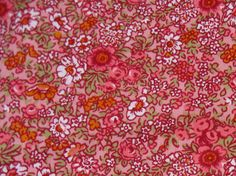 Fat Quarter, Pink, Rose, Orange & White  Flowers, Cotton  Fabric- Sewing craft supplies, Sewing Notion, Quilting Supplies by NormaSuppliesandKits on Etsy