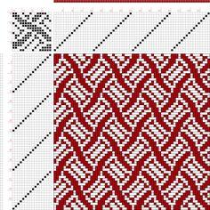 draft image: Figure 378, A Handbook of Weaves by G. H. Oelsner, 16S, 16T
