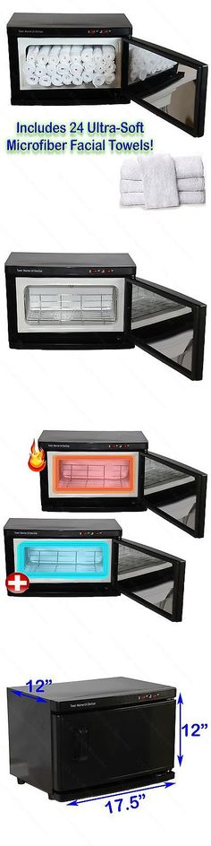Sterilizers and Towel Warmers: Black Hot Towel Cabinet Warmer Uv Sterilizer Sanitizer 24 Towels Salon Equipment -> BUY IT NOW ONLY: $79.99 on eBay!