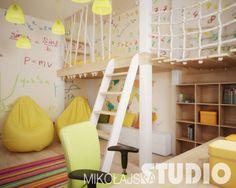 Pokój dziecięcy w kamienicy (de MIKOŁAJSKAstudio Krystyna Mikołajska) Beautiful Children, Kids Room, Room Decor, Bedroom, House, Furniture, Baby Boom, Play, Google