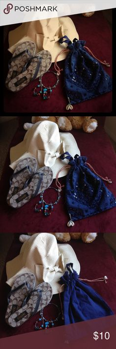 Hand Made Blue Festival Bag Drawstring Shell Beads This sale is for the hand bag in the pic. This bag is handmade from India. It has a draw string and beautiful shell beads and gorgeous design. Thank you for looking. Hand Made Bags Satchels