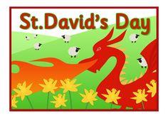 St. David's Day A4 Poster (Dydd Gwyl Dewi)   Free EYFS / KS1 Resources for Teachers