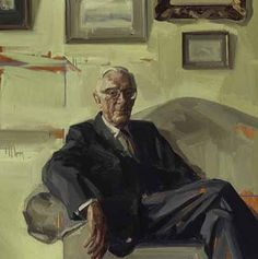 Portrait of Lord Carrington seen seated by eminent artist Tai Shan Schierenberg Tai Shan Schierenberg, Figure Painting, Painting & Drawing, Tate Gallery, Royal Society, National Portrait Gallery, Contemporary Paintings, Figurative Art, Lord