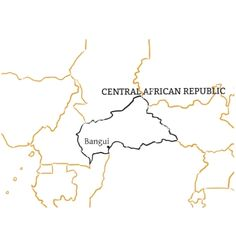 Central African Republic hand-drawn sketch map vector image on VectorStock Map Vector, Vector Free, How To Draw Hands, African, Illustration, Illustrations