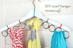 DIY closet organizing systems are expensive. Save money, time, and stress with these quick and easy DIY closet organizer ideas. Scarf Organization, Home Organization Hacks, Organizing Your Home, Organizing Ideas, Creative Closets, Creative Storage, Storage Ideas, Storage Solutions, Diy Storage