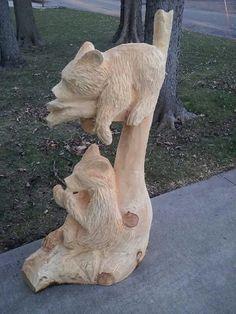 Driftwood Sculpture, Sand Sculptures, Driftwood Art, Chainsaw Wood Carving, Wood Carving Art, Wood Carvings, Chain Saw Art, Simple Wood Carving, Tree Carving